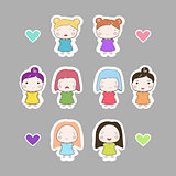Cartoon Baby Girls cutout Set