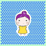 Cute Foxy Plum Hair Cartoon Foxy Baby Girl