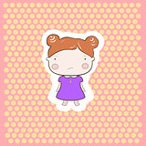 Cute Red Hair Cartoon Baby Girl