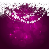 Winter violet background