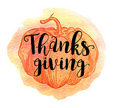 Greeting card for Thanksgiving Day.
