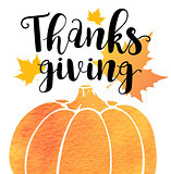 Greeting card for Thanksgiving Da