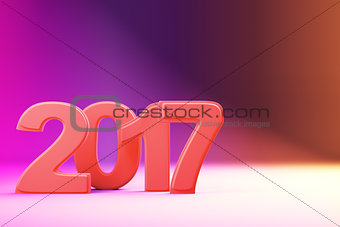 2017 new year figures on gradient background