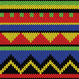 Seamless knitting geometrical colourful bright pattern