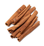 Cinnamon sticks. Top view.
