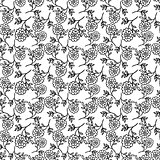seamless pattern with abstract flowers. vector