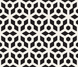 Vector Seamless Black And White Hexagonal Pattern