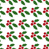 Seamless Background Holly Berries