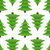 Seamless background of trees