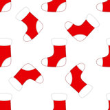Seamless Christmas Red and White Socks