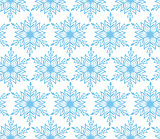 Blue snowflake Christmas seamless background