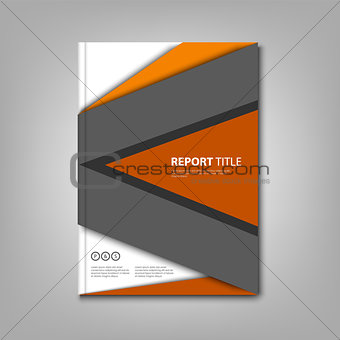 Brochures book or flyer with abstract design triangles template