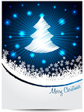 Blue white christmas greeting with bursting scribbled christmast