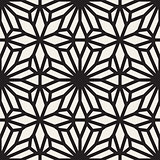 Vector Seamless Black and White Lace Ornamental Pattern