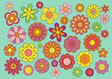 Sixties flowers