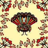 Vector illustration happy Thanksgiving Beautiful colorful ethnic
