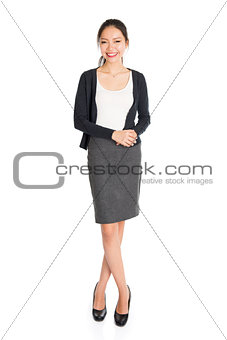 Fullbody portrait of young Asian woman