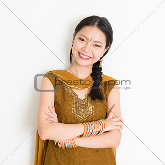 Indian Chinese girl in sari