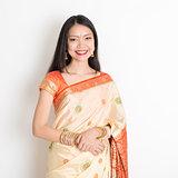 Young woman in Indian sari