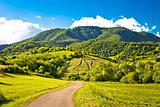 Springtime landscape on Plesivica hills