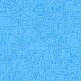 Birthday Blue Line Seamless Pattern