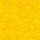 Birthday Yellow Line Tile Pattern