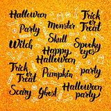 Halloween Gold Lettering Design