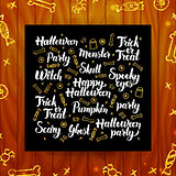 Halloween Greeting Calligraphy