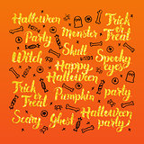 Halloween Holiday Lettering Design