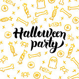 Halloween Party Gold Greeting Card