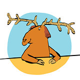 Christmas reindeer or moose