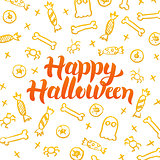Happy Halloween Gold Postcard