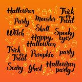 Happy Halloween Lettering Design