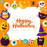 Happy Halloween Paper Concept