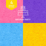 Line Birthday Party Patterns