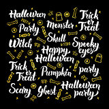 Scary Halloween Calligraphy Design