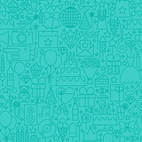 Party Mint Line Tile Pattern