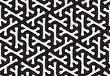 Vector Seamless Black and White Rounded Bone Shape Pattern
