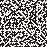 Vector Seamless Jumble Triangles Geometric Pattern