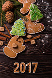New year homemade gingerbread
