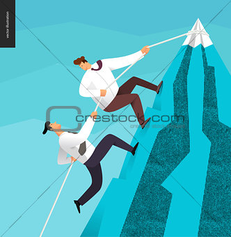Climbing up, business concept