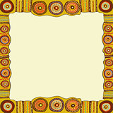 Ethnic hand painted square frame.