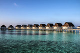 Beach bungalows, Maldives