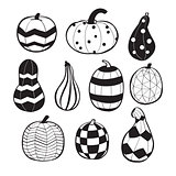 Pumpkins with patterns
