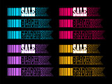 Black Friday sale colorful backgrounds.