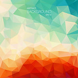 Teal orange abstract background with triangle shapes