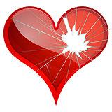 Broken hearts. Dislike, sadness, shattered, rupture, break up themes.