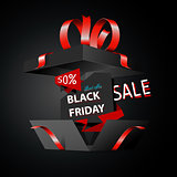 Black friday sale advertising, special offer