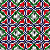 Seamless knitting geometrical color pattern