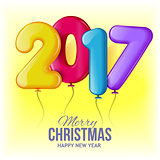 Merry Christmas and Happy New Year 2017 background